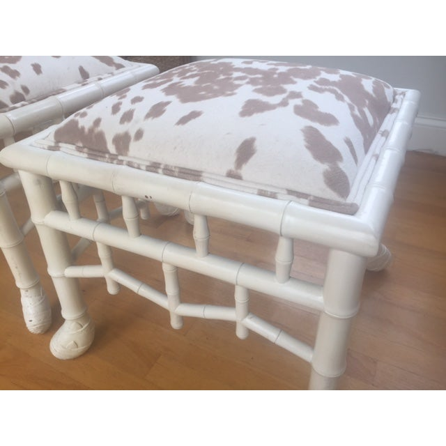 Chinoiserie Chic Hollywood Regency Stools - Pair - Image 4 of 11