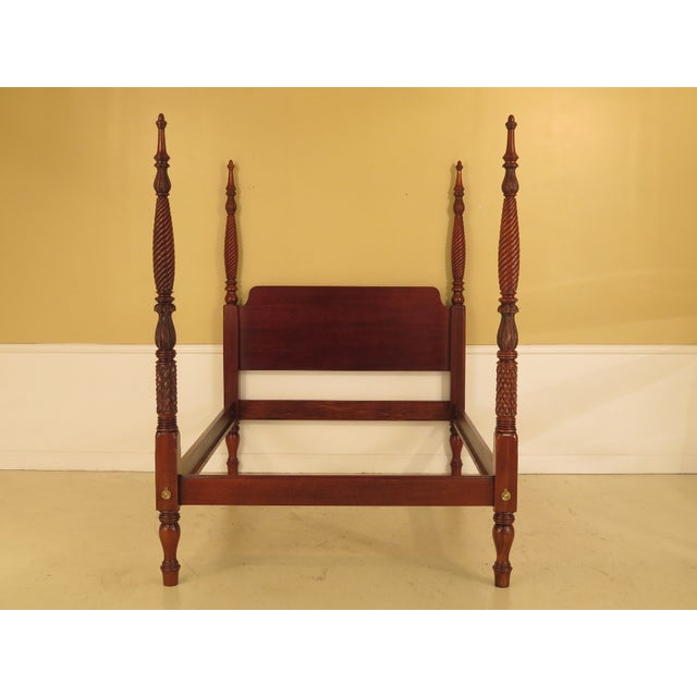 1990s Vintage Hickory Chair Co Queen Size Mahogany Plantation Bed For Sale - Image 10 of 10