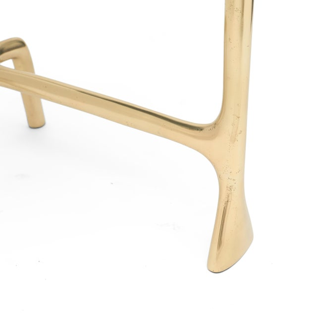 Metal Uovo Side Table (Shagreen & Brass ) by Sylvan San Francisco For Sale - Image 7 of 8