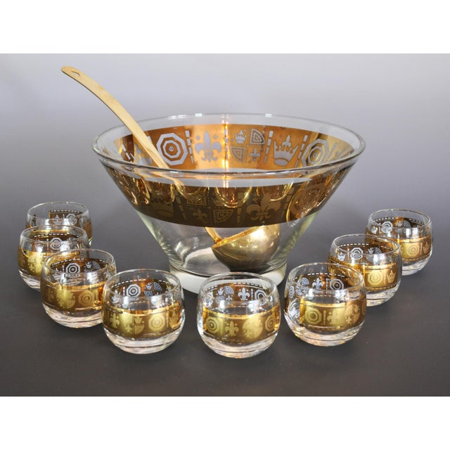 1960s Gold Mid Century Modern Egg Nog or Punch Set - 10 Pieces For Sale - Image 5 of 5