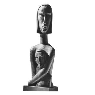 Andreas Feininger (1906-1999) Photograph of a Sculpture of an African Woman For Sale