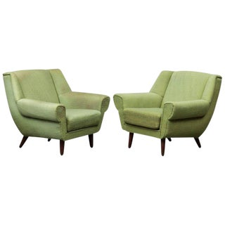 1940s Vintage Danish Modern Armchairs - A Pair For Sale