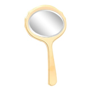 1930s Vintage Celluloid Hand Mirror For Sale