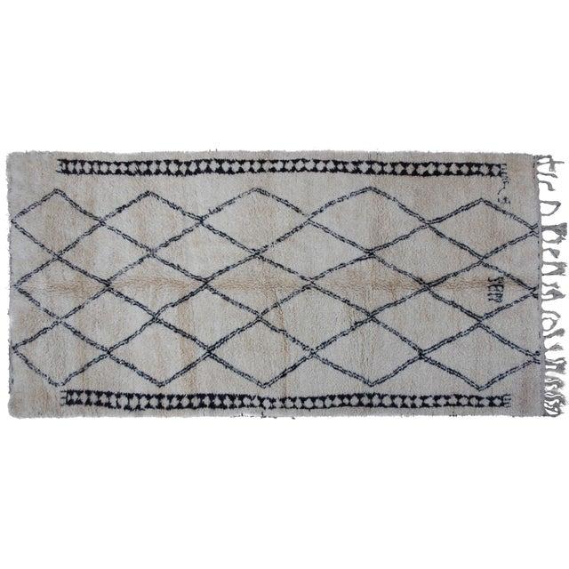 Vintage Moroccan Beni Ourain Rug - 11'4'' X 5'9'' - Image 1 of 4