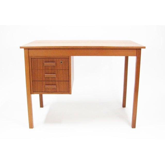 1960's Vintage Ejsing Møbelfabrik Teak Writing Desk For Sale - Image 11 of 11