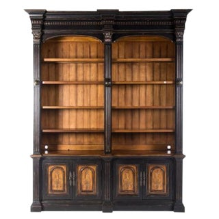 Hooker Furniture Co. Italian Architectural Style Painted Bookcase For Sale