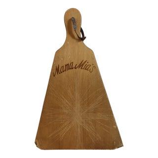 Vintage Mama Mia's Pizza Paddle