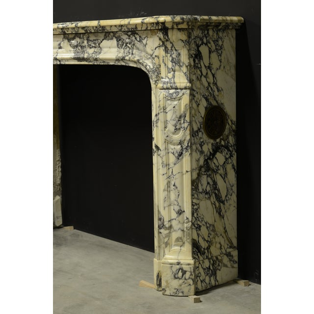 Paonazetto Pompadour Fireplace Mantel For Sale - Image 9 of 12