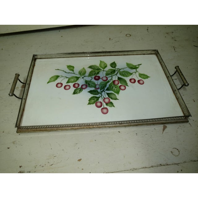 Antique Czechoslovakia Porcelain Tray For Sale - Image 4 of 4