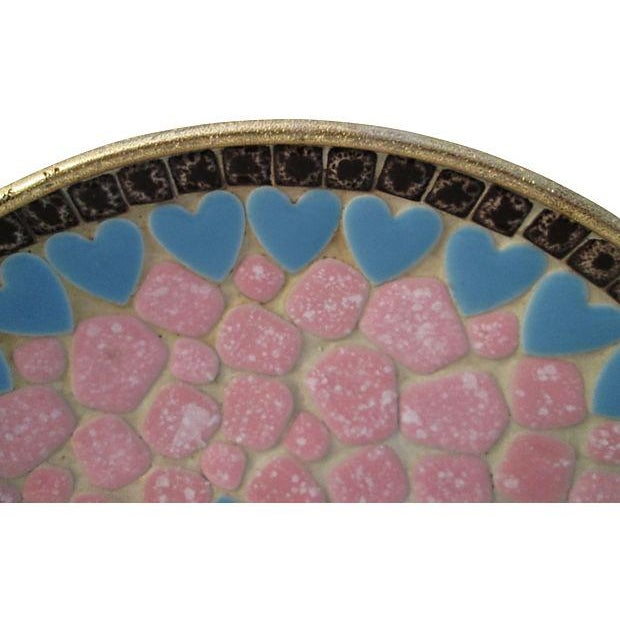 Midcentury Mosaic Tile Shallow Bowl For Sale - Image 4 of 7