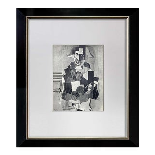 """Pablo Picasso Lithograph """"Pierrot"""" 1922 Limited Edition Sign W/Frame Included For Sale"""