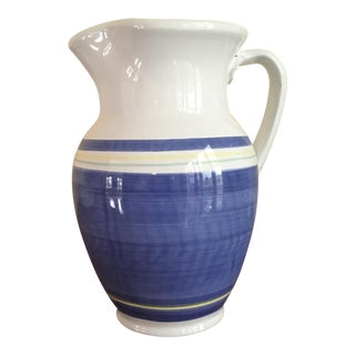 Blue & White Earthenware Pitcher