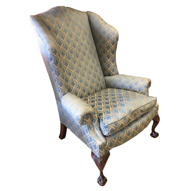 George Smith Wingback Chair For Sale