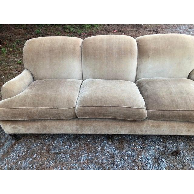1990s O Henry House Ltd Down Filled Velvet Chenille Sofa For Sale - Image 5 of 13