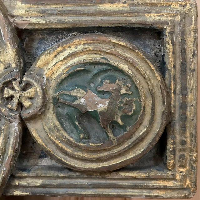Paint 18th Century Italian Polychrome Cross For Sale - Image 7 of 9