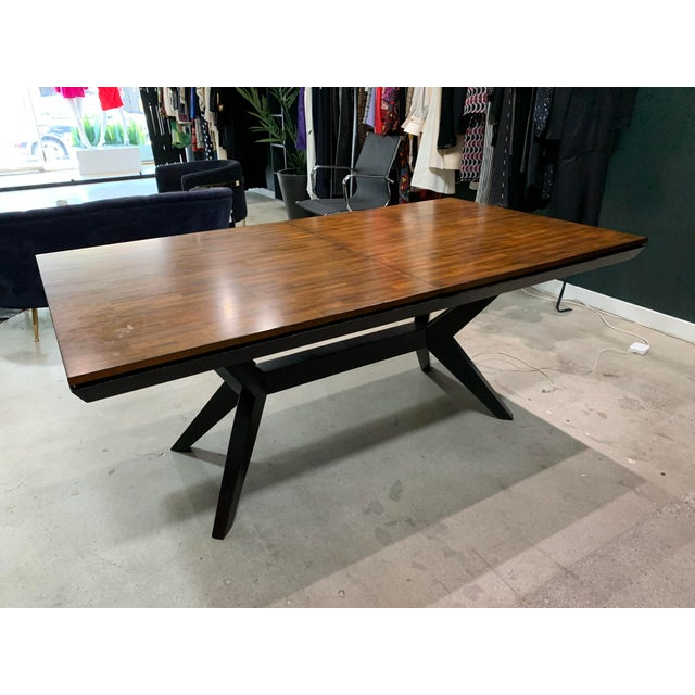 "Rectangular mid-century dining table. Can be used for a large desk. Walnut Dimensions: Length - 72.25"" Width - 40"" Height..."