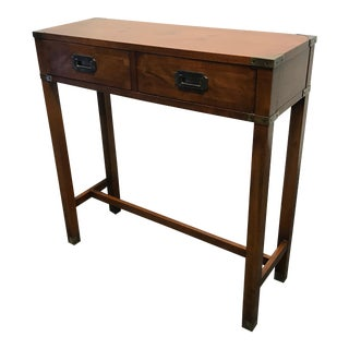 Vintage HEKMAN Campaign Style Diminutive Console Table