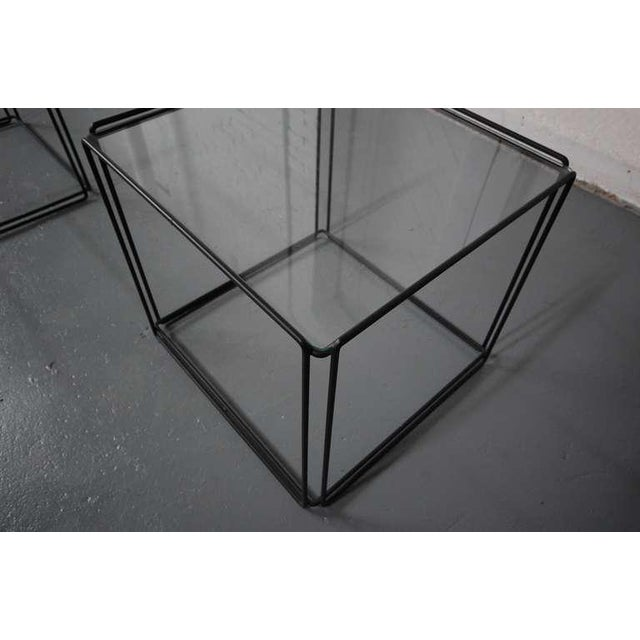 Max Sauze Pair of Minimalist Tables by Max Sauze For Sale - Image 4 of 7