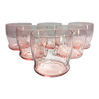 Pink Depression Glass Small Tumblers - Set of 6
