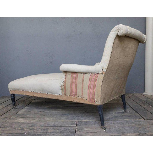 French 19th Century Chaise Longue With Scrolled Back - Image 5 of 8