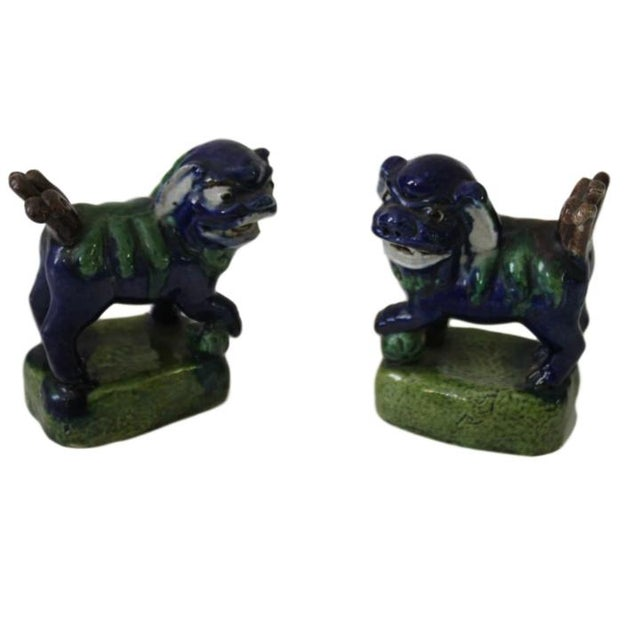 Mid-Century Modern Antique Foo Dogs, Pair For Sale - Image 3 of 3