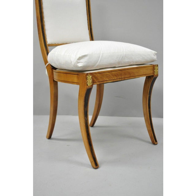Late 20th Century Regency Neoclassical Style Saber Klismos Leg Accent Side Desk Chair For Sale - Image 5 of 13