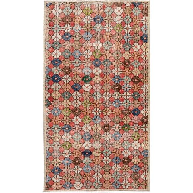 Vintage Turkish Scatter Wool Rug 4 X 7 For Sale - Image 13 of 13