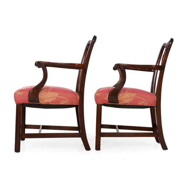 Early 20th Century 20th Century English Antique Carved Mahogany Dining Chairs - Set of 6 For Sale - Image 5 of 13