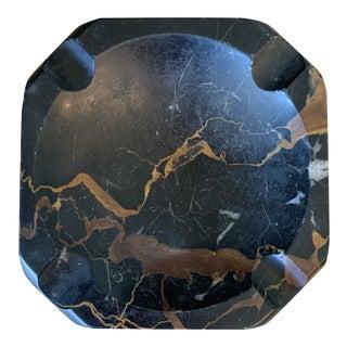 Vintage Black Marble Ashtray For Sale
