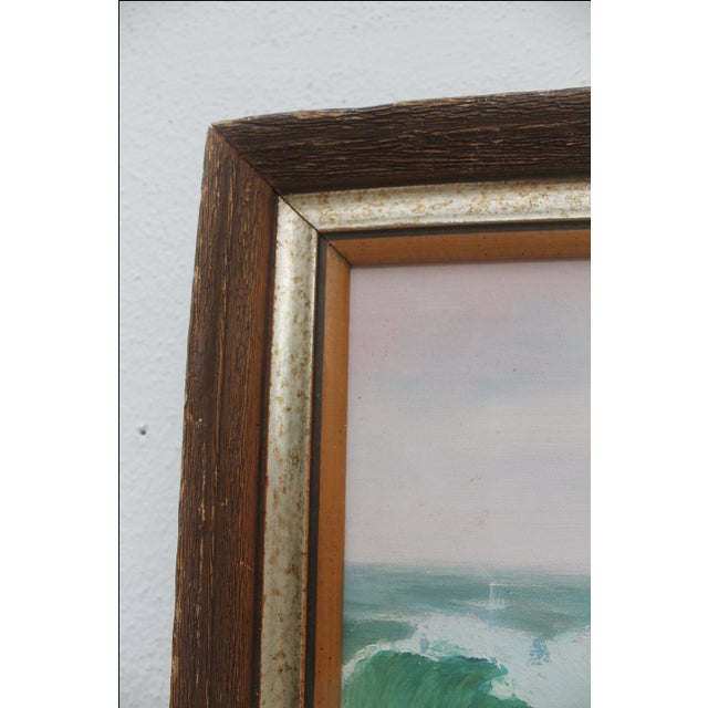 Ocean Scene, Oil Painting by Jean Papenfus For Sale - Image 10 of 11