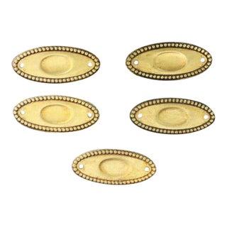 Beaded Bronze Applique Plates - Set of 5 For Sale
