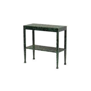 Petite Console in a Hand-Applied Faux Tortoise Finish For Sale