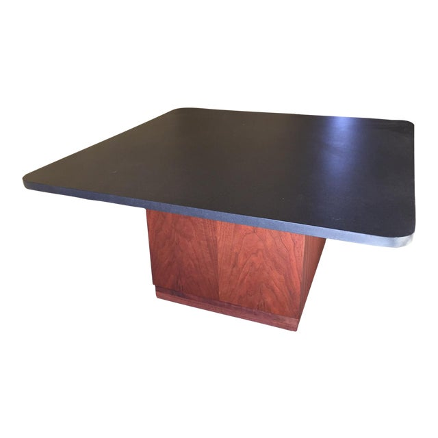 Mid-Century Modern Slate Top Coffee Table - Image 1 of 5