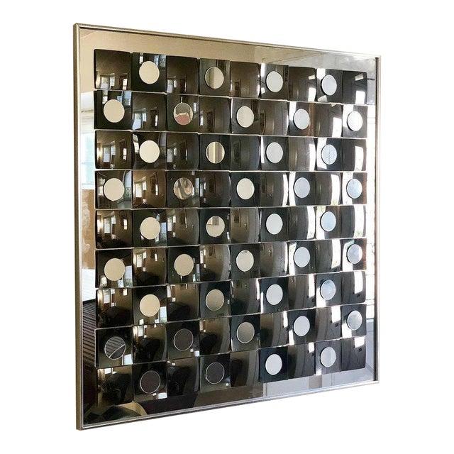 db5383e29a0d9 Hal Bienenfeld Mid-Century Geometric Op Art Mirror For Sale