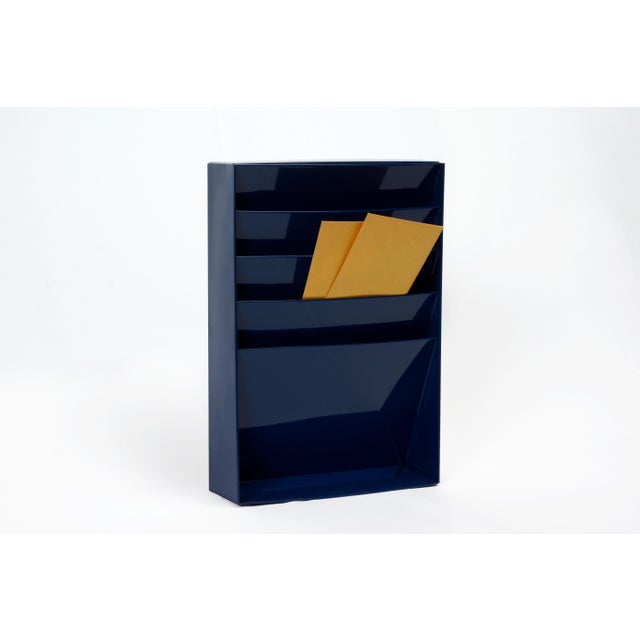 1960s retro office organizer freshly powder coated in Midnight Blue (BL20). Ideal for holding magazines, sorting memo or...