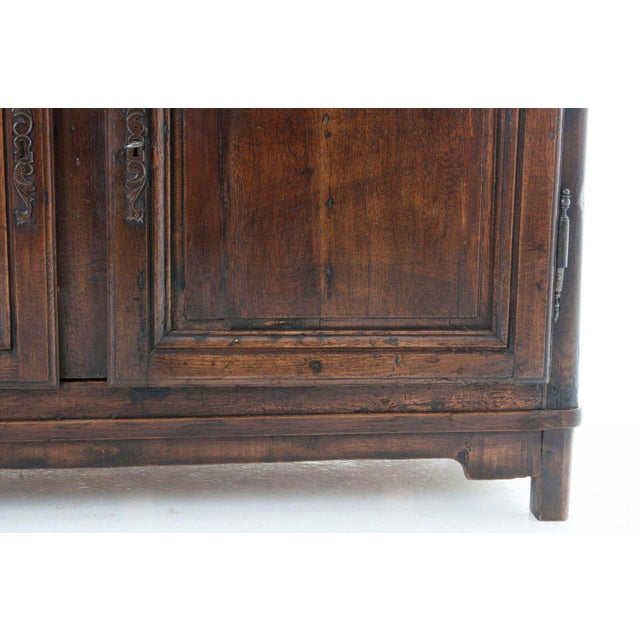 Early 18th Century French 18th Century Oak Buffet A' Deux Corps For Sale - Image 5 of 10