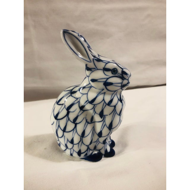 Late 20th Century Andrea by Sadek Blue and White Bunny For Sale - Image 5 of 5