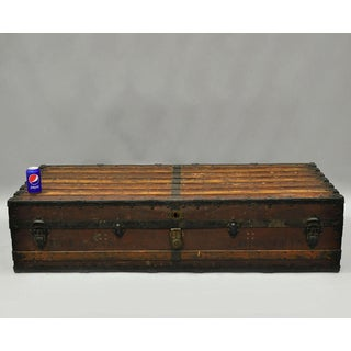 William Bal 61 XL Luggage Suitcase Steamer Trunk Wood Slat Chest Heumans Houdini Preview