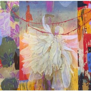 "Trujillo Contemporary Abstract Botanical Canvas ""Galaxian 2"" For Sale"