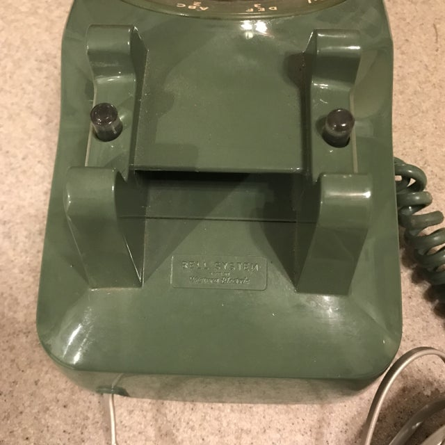 Vintage Western Electric Green 500 Rotary Phone For Sale - Image 9 of 11