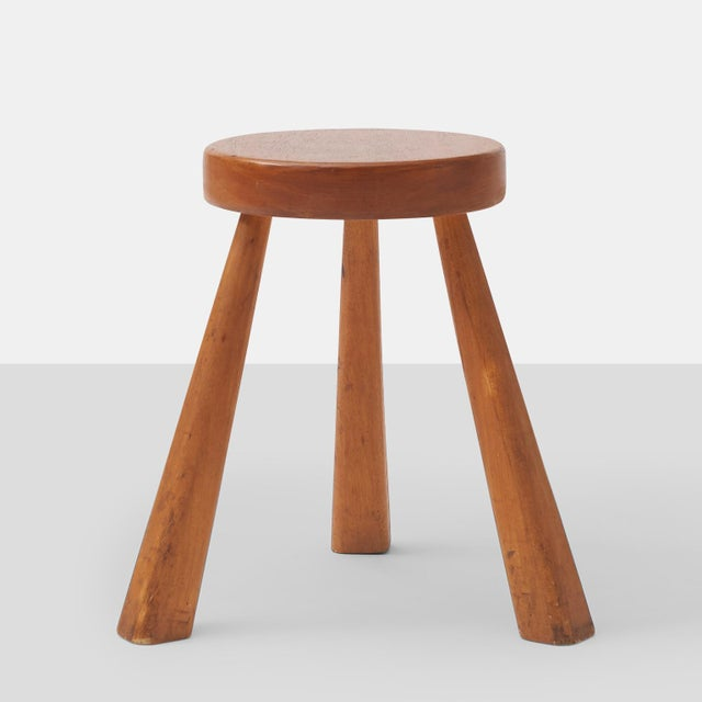 Mid-Century Modern Charlotte Perriand Stools for Les Arcs For Sale - Image 3 of 6