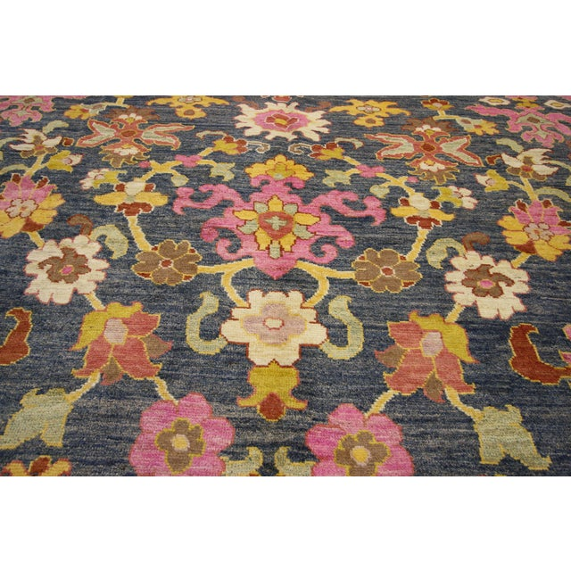 Early 21st Century Contemporary Turkish Oushak Rug - 9′10″ × 13′5″ For Sale - Image 5 of 7