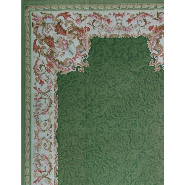 """Pasargad Aubusson Hand Woven Wool Rug - 10'10"""" X 16' 0"""" - Image 2 of 3"""