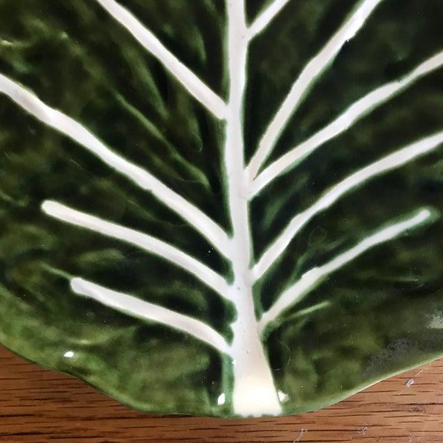 1970s Vintage Portuguese Ceramic Cabbage Platter For Sale - Image 5 of 9