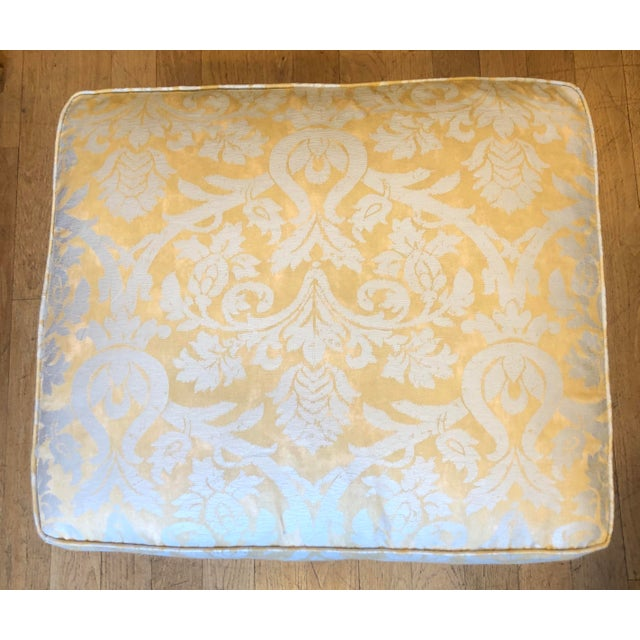 2000 - 2009 Pair of Fortuny Fully Upholstered Pillow Top Benches For Sale - Image 5 of 5