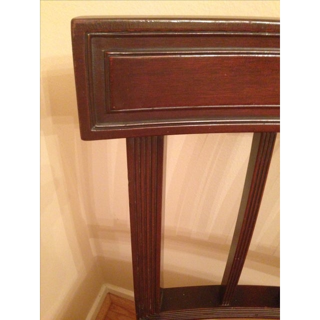 Cherry Wood Side Chairs - A Pair - Image 6 of 8