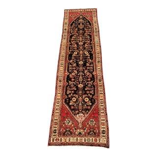 "Vintage Persian Hamadan Runner Rug - 3'2""x12'5"" For Sale"