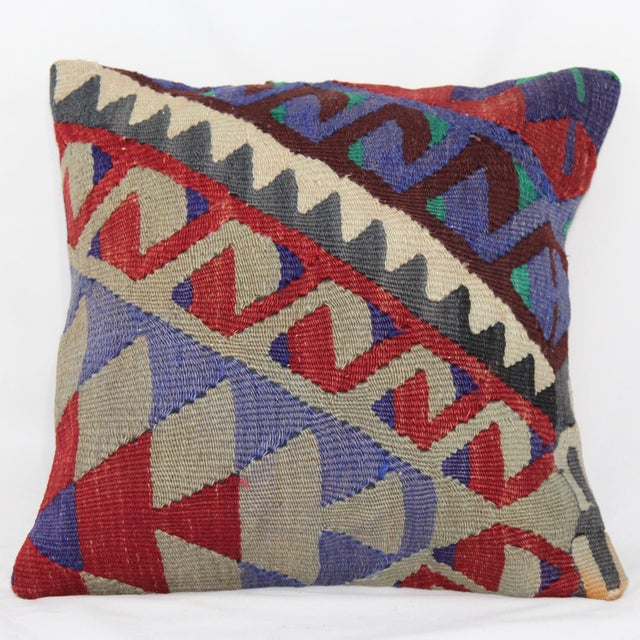 Turkish Handmade Kilim Pillow Cover - Image 2 of 5