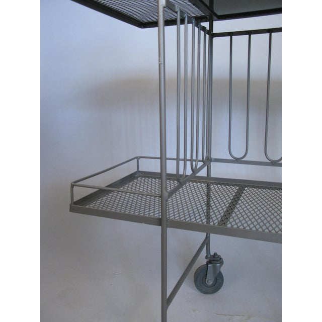 Salterini Wrought Iron & Glass 1950's Bar Cart by Salterini For Sale - Image 4 of 7