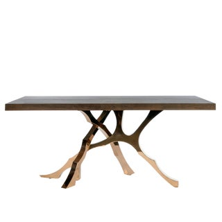 Contemporary Branch Wood Top Rectangle Dining Table
